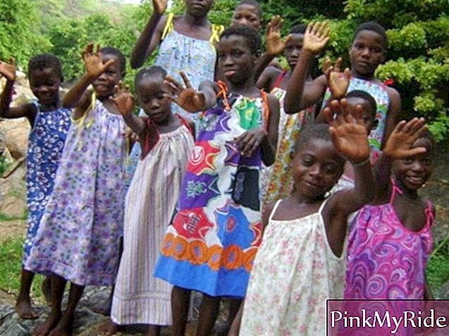 "African people benefited by the organization ""Dressed for Africa"""