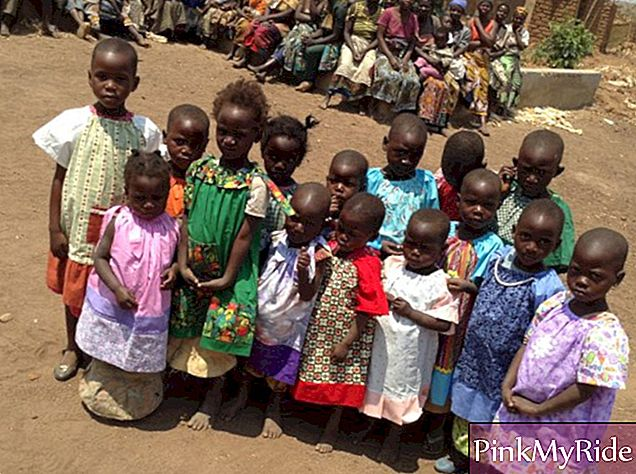 "Girls benefited by ""Dresses for Africa"""